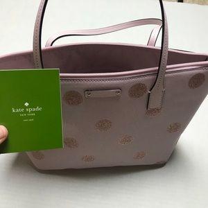 NWT Kate Spade Glitter Handbag Purse Zip Satchel